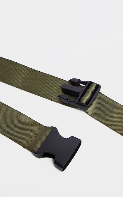 Olive Khaki Slider Buckle Tape Belt