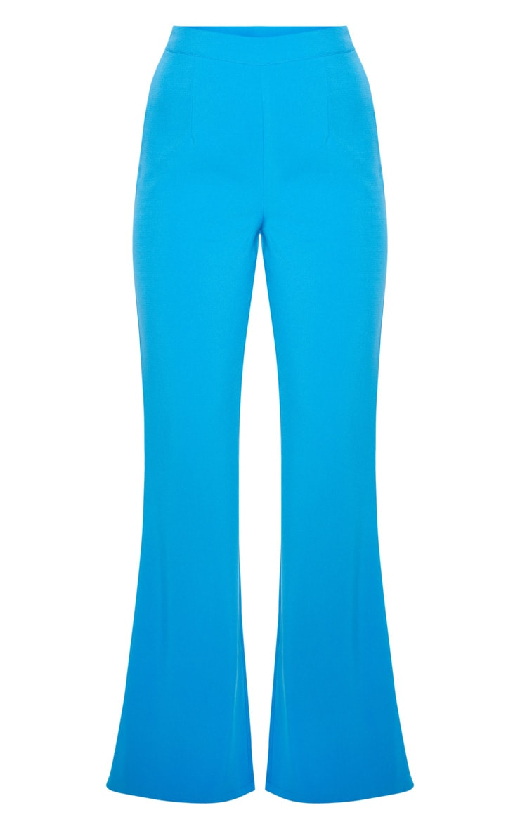 Blue Wide Legged Suit Trouser  3