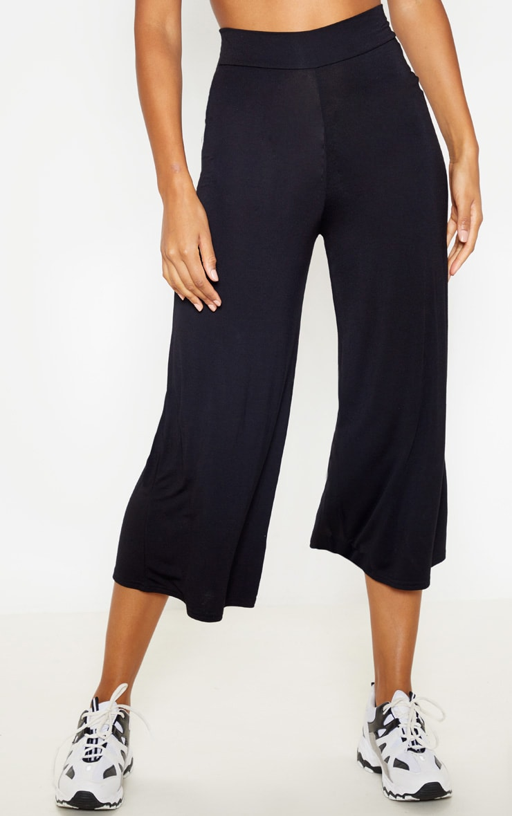 Black And Grey Basic Culotte 2 Pack 2