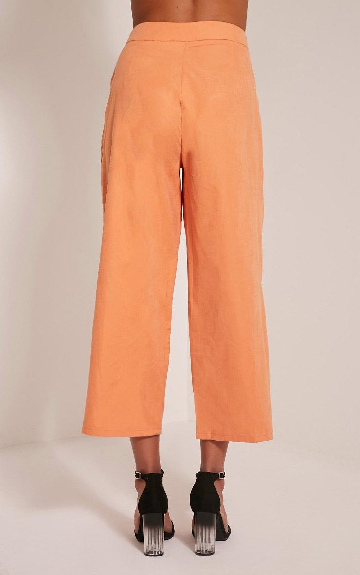 Shirley Pastel Orange Wrap Tie Culottes 5