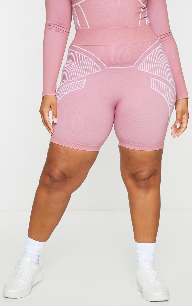 Plus Rose Seamless Detail Shorts 2