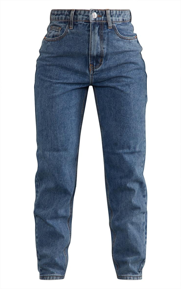 PRETTYLITTLETHING Vintage Wash Mom Jeans 5