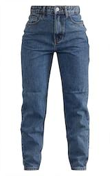 PRETTYLITTLETHING Vintage Wash Mom Jeans 4