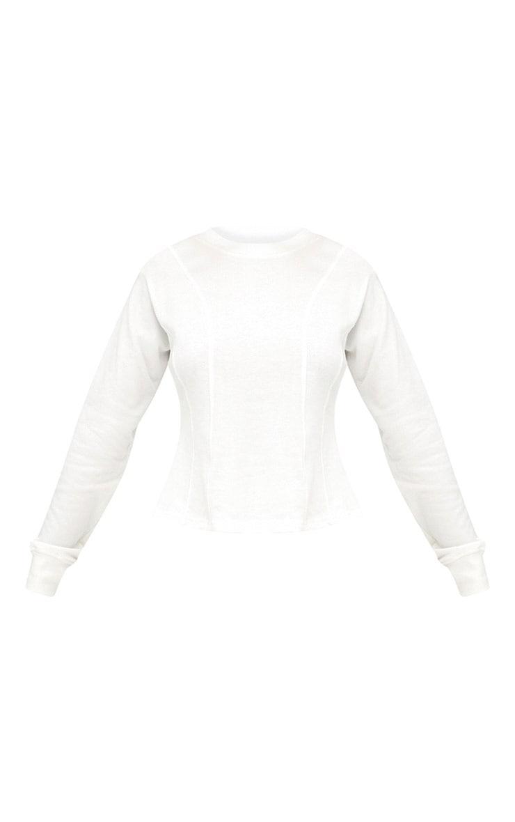 Cream Corset Seam Detail Sweater 3