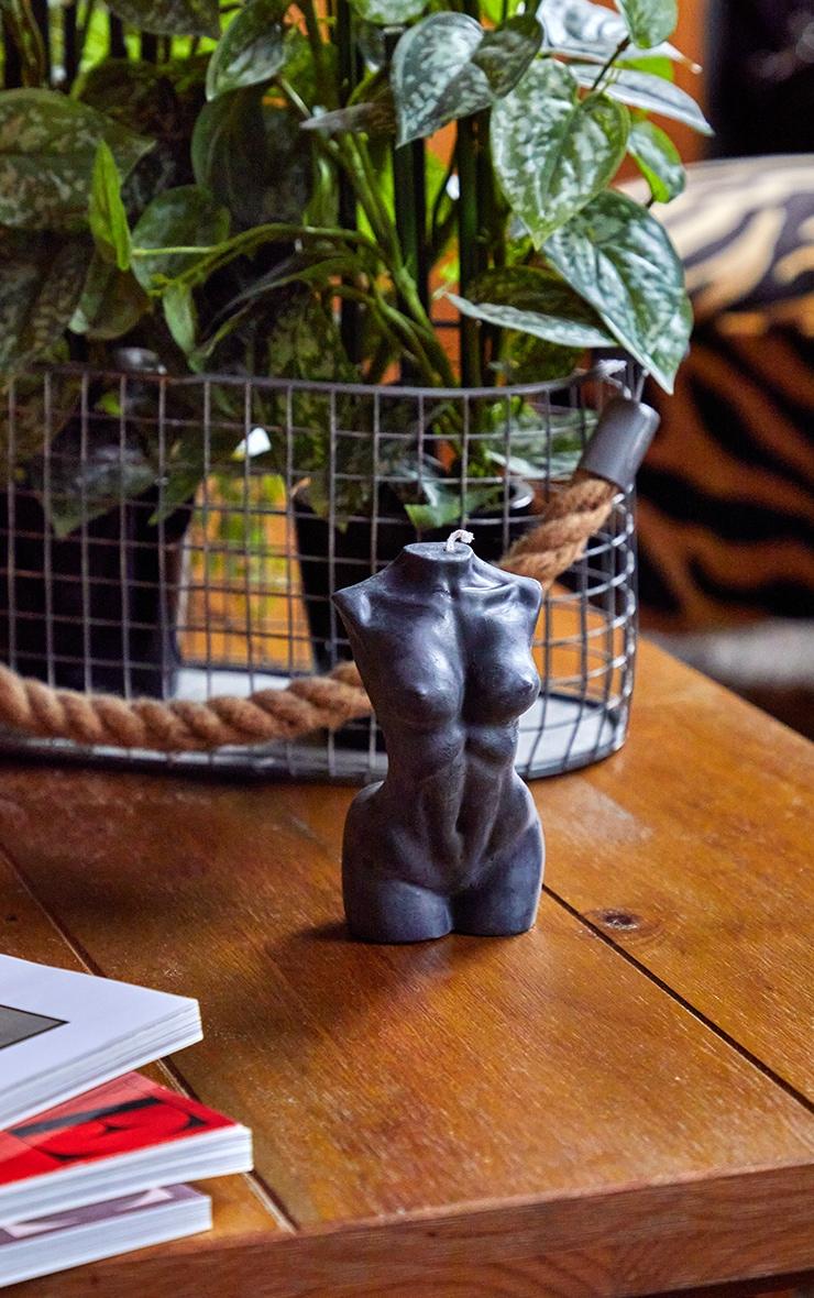 Black Large Female Body Candle 14cm 2