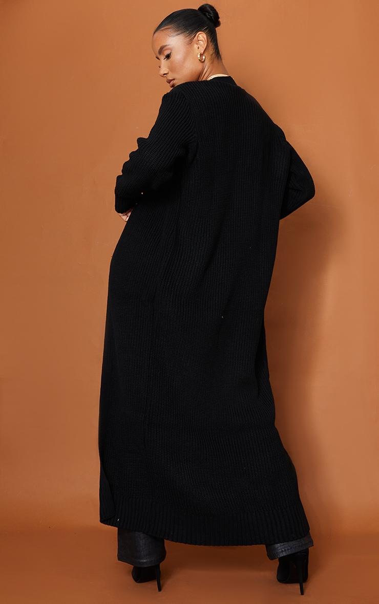 Cardigan long noir 2