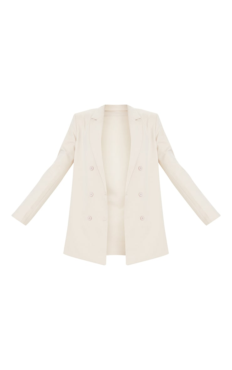 Tall Stone Shoulder Pad Oversized Double Breasted Blazer 5