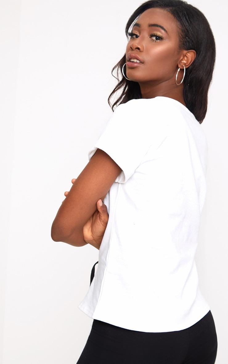White Corset Lace Up T Shirt Sweater 2
