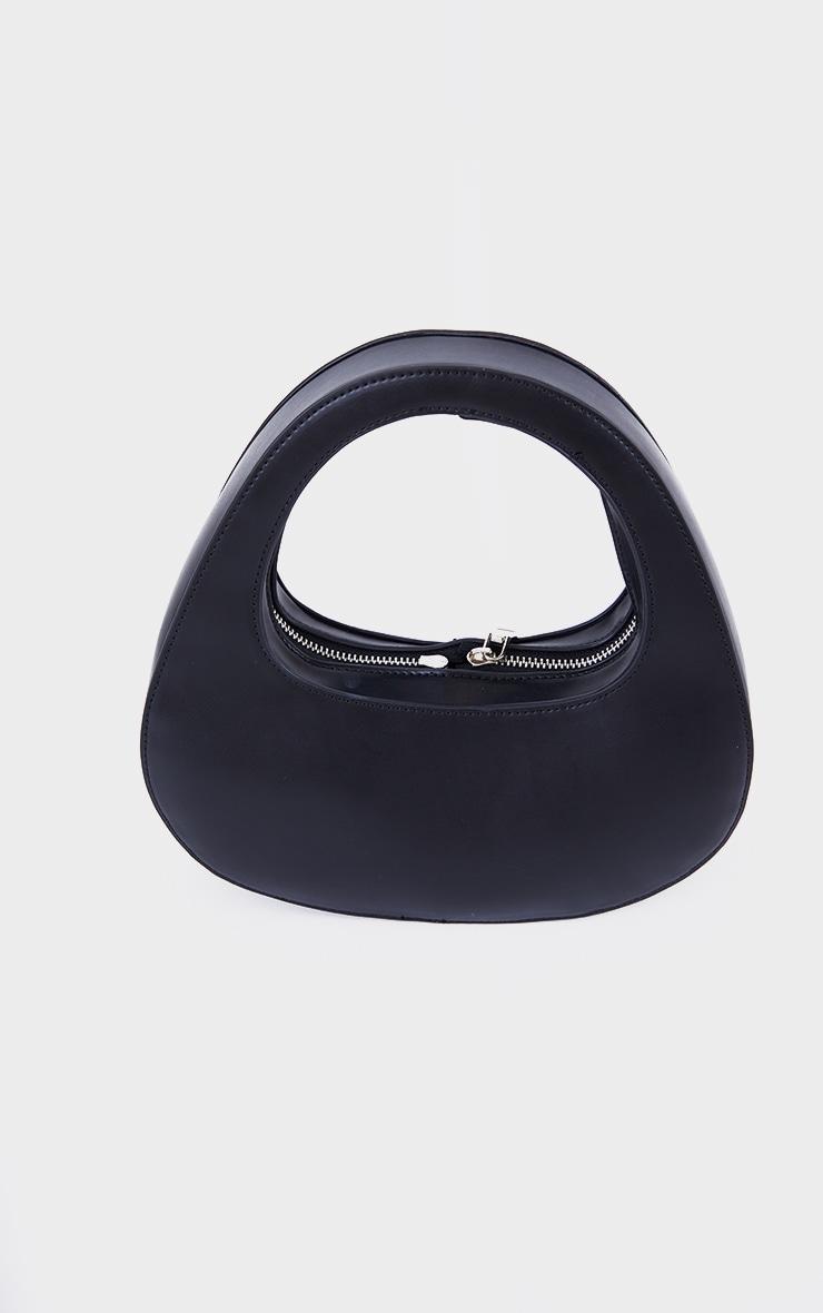 Black Padded Oval Grab Bag 2