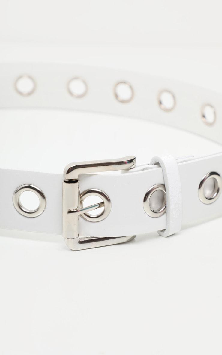 White Eyelet Belt 4