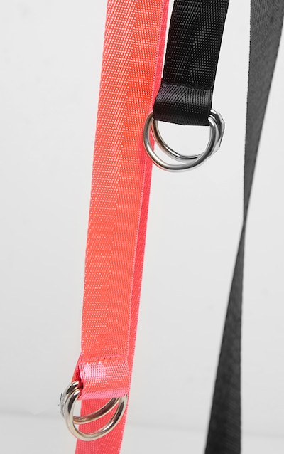 Black and Pink Skinny Taping Belt Two Pack