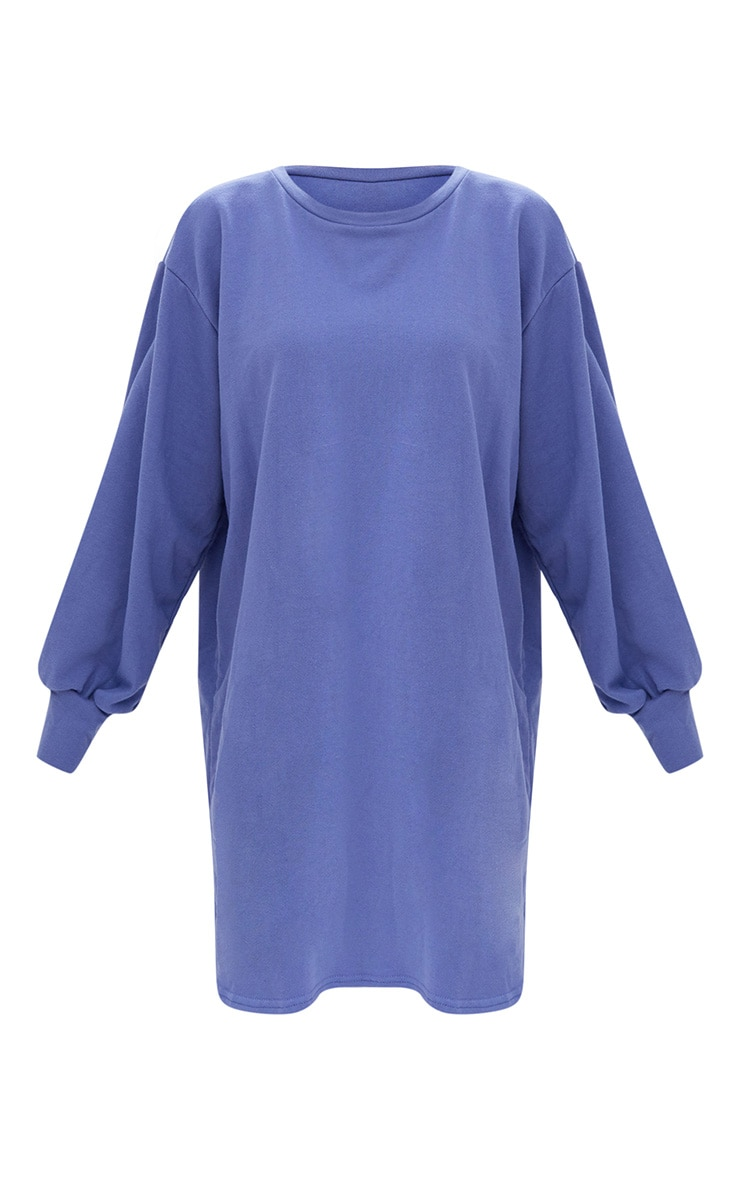Blue Oversized Sweater Dress 3