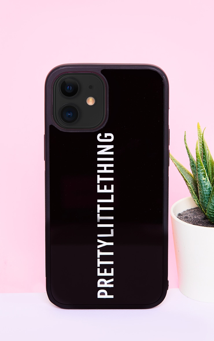 PRETTYLITTLETHING Black Logo iPhone 12 Pro Max Phone Case 1