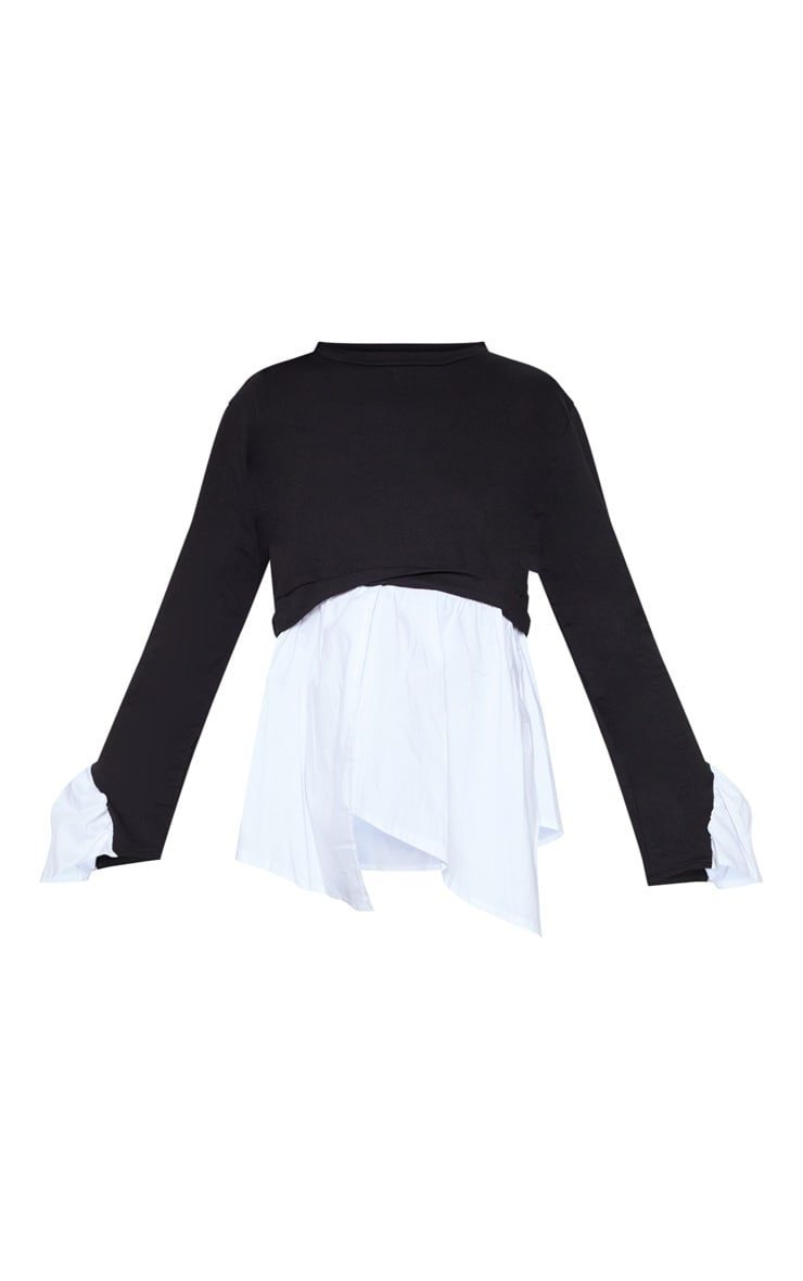Black Peplum Sweatshirt 3