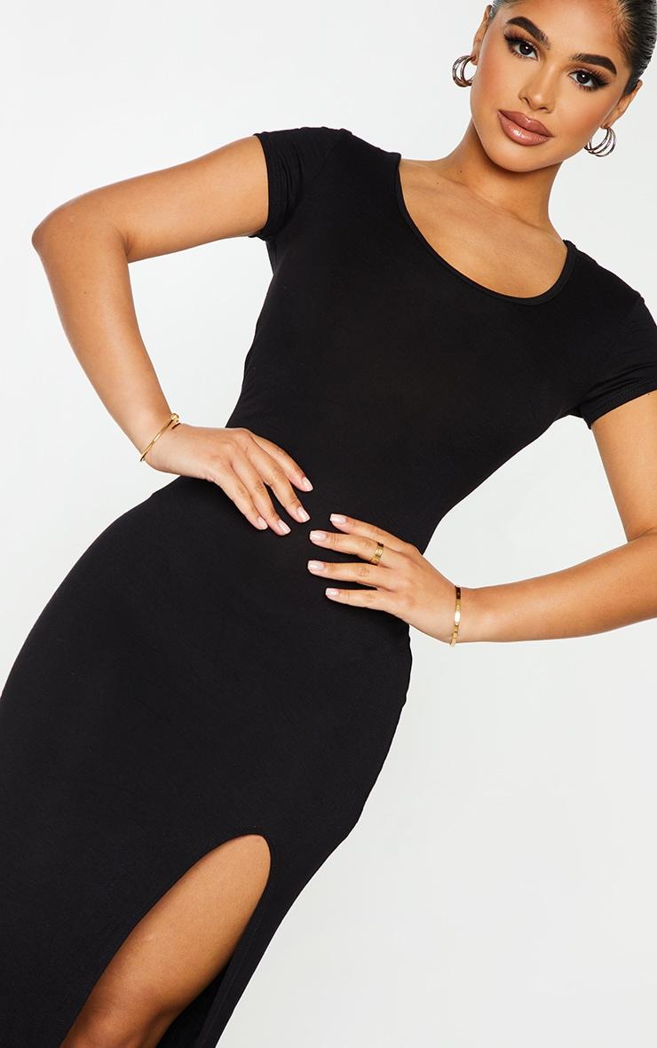 Petite Black Jersey T Shirt Midi Dress 5
