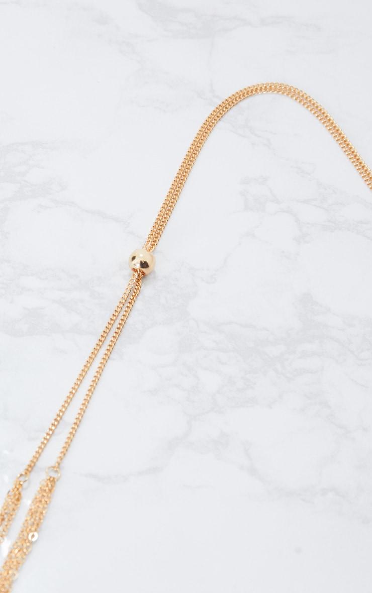 Gold Bolo Tie Necklace 4