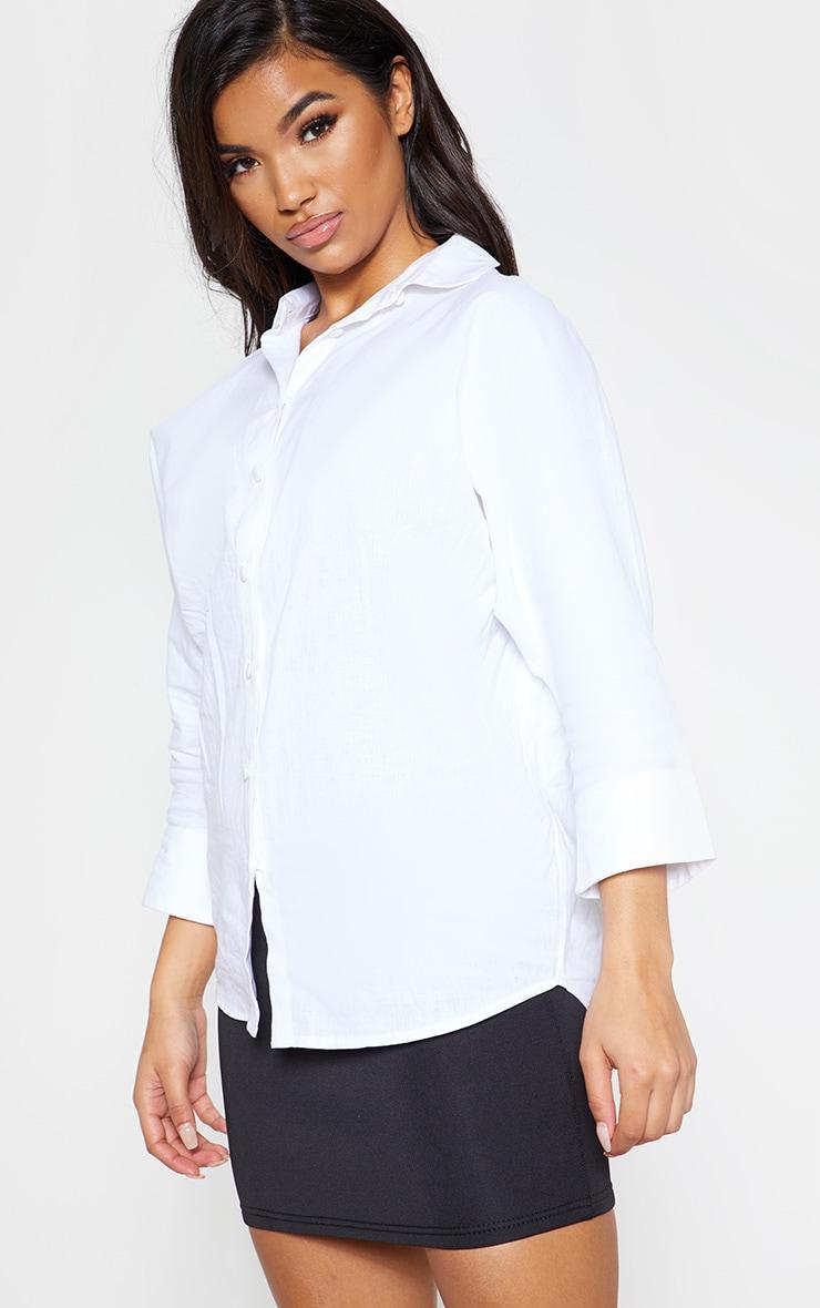 White Linen Oversized Shirt 6