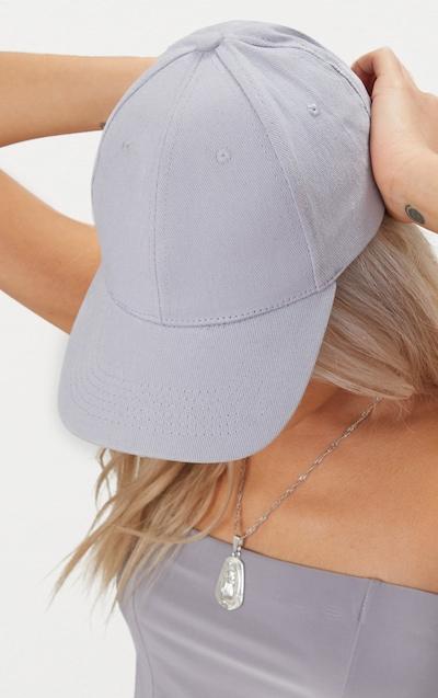 Light Grey Woven Baseball Cap