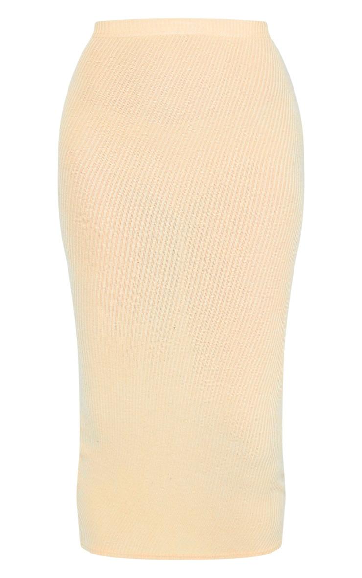 Tall Stone Brush Rib Midi Skirt 3