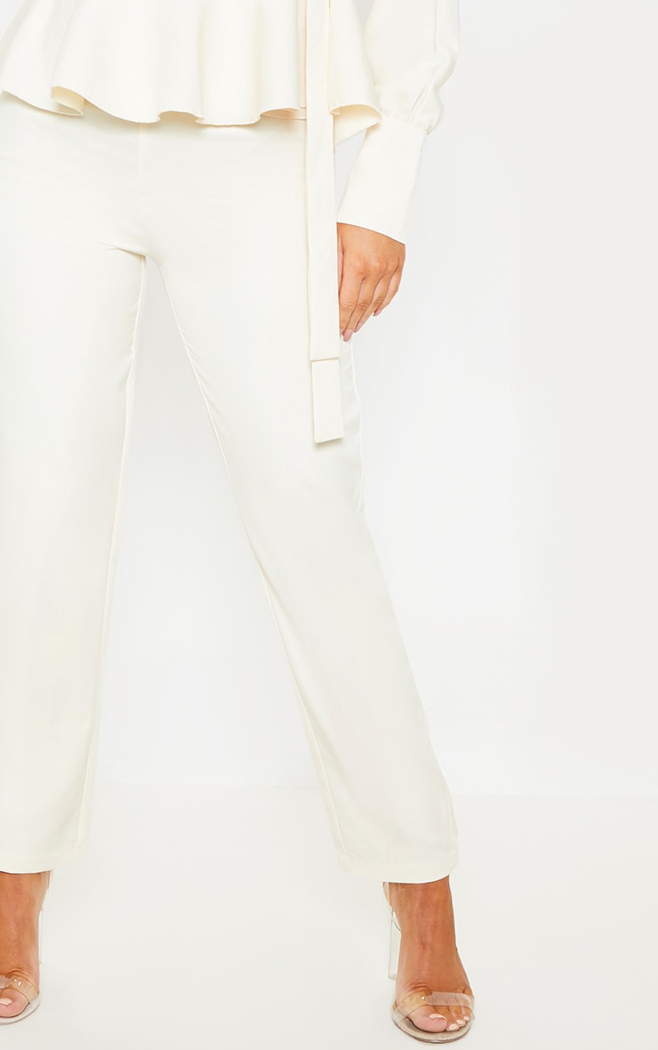 Cream High Waisted Cigarette Pants 5