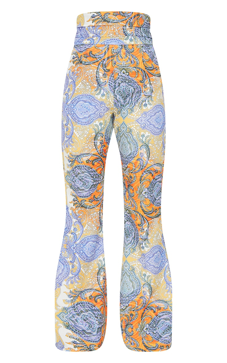 Multi Paisley Printed Kick Flare Trousers 5