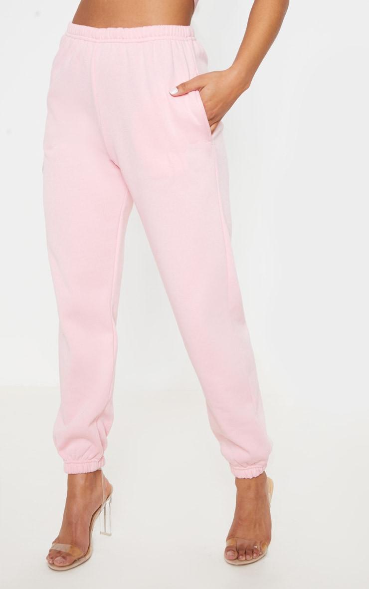 Pantalon de jogging rose pastel casual 2