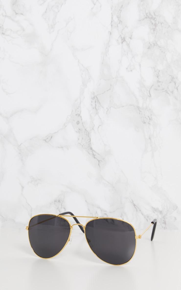 Gold Metal Aviator Sunglasses 4