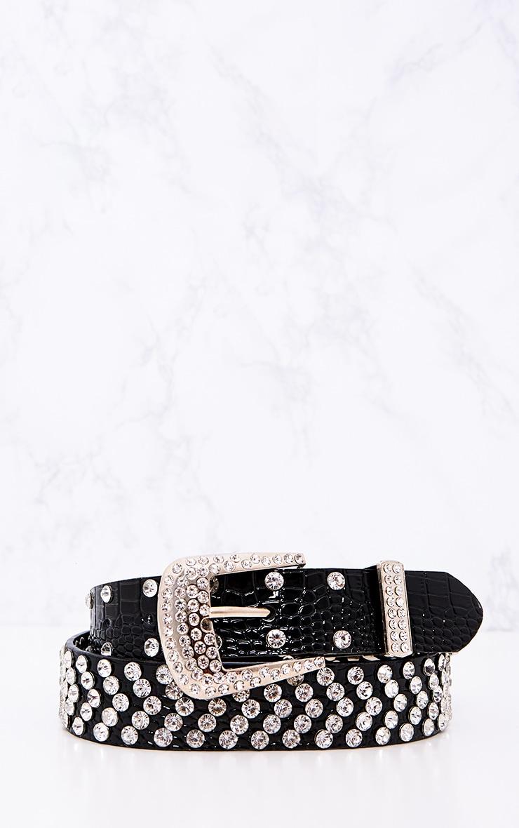 Black All Over Studded Belt 4