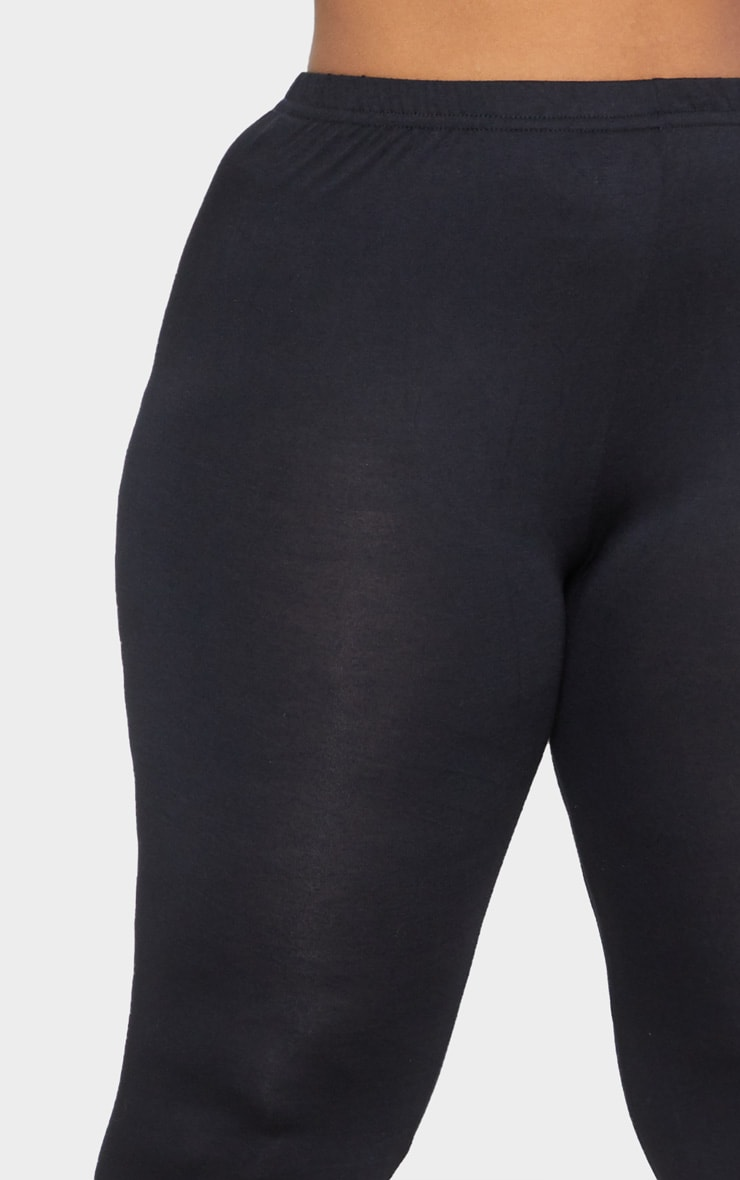 Plus Black Jersey Leggings 5