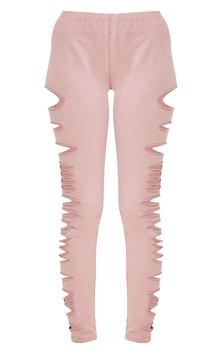 Carlie Pink Distressed Leggings 3