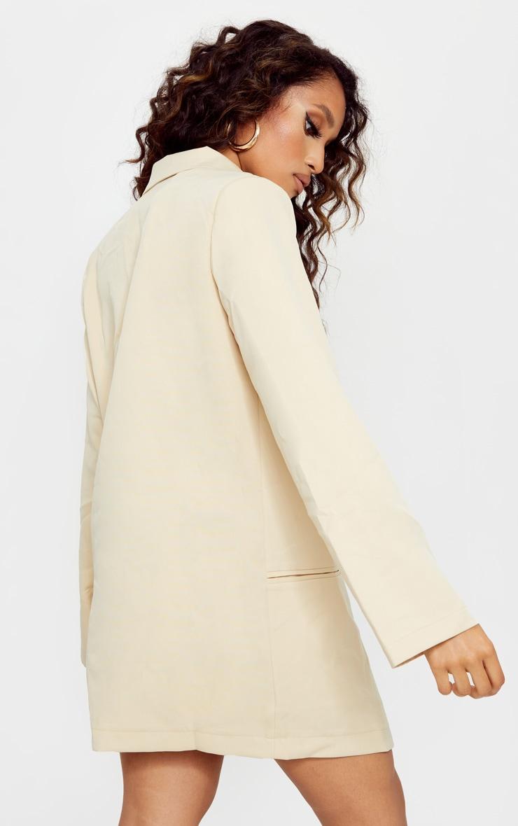 Petite Stone Deep Plunge Blazer Dress 2