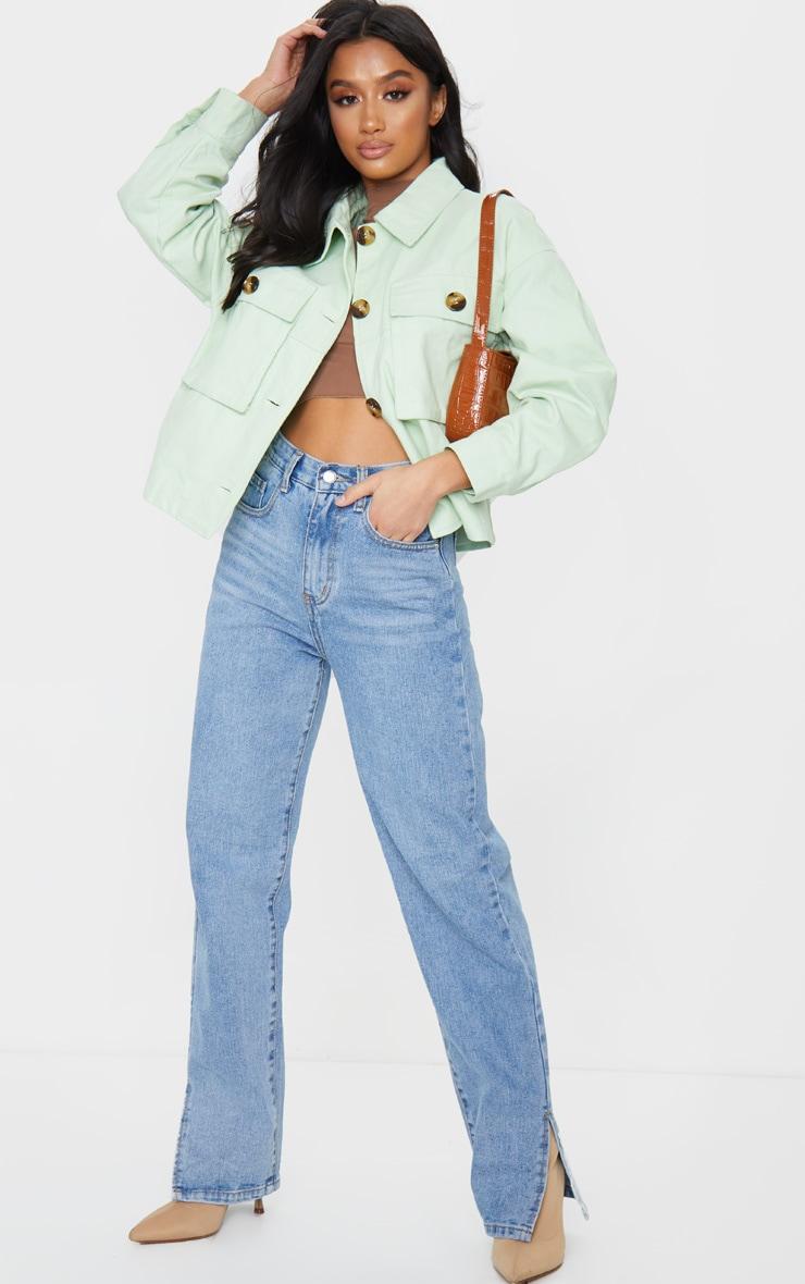 Petite Sage Green Cord Oversized Jacket 3