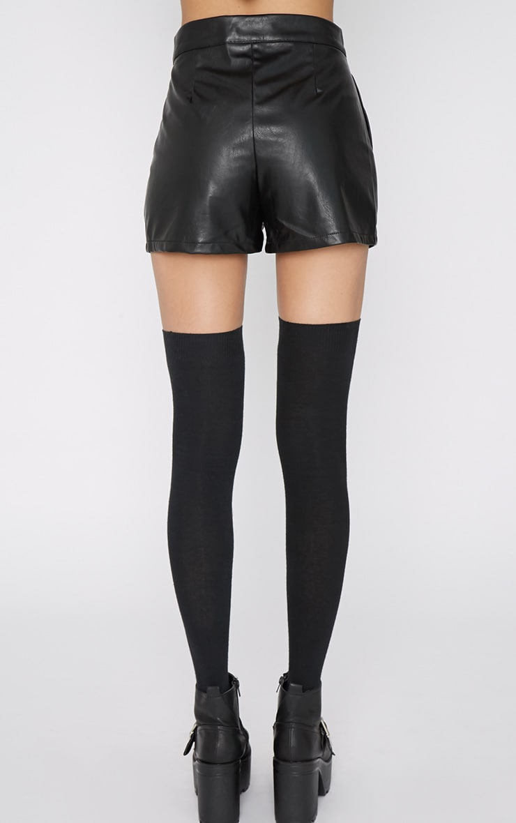 Misha Black Leather Short 3