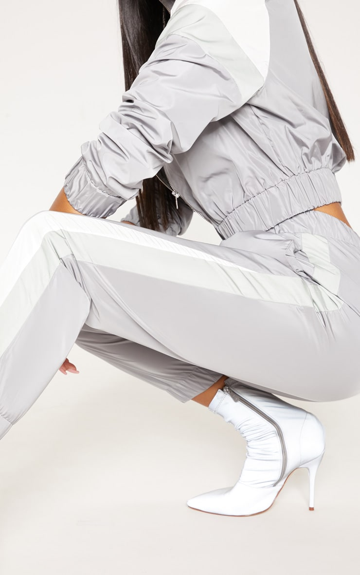 Grey Stripe Shell Tracksuit Track Pants 5