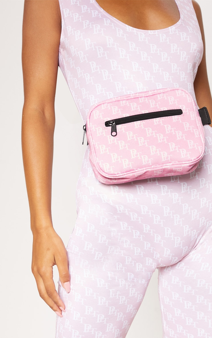 PRETTYLITTLETHING Pink Monogram Bum Bag 2