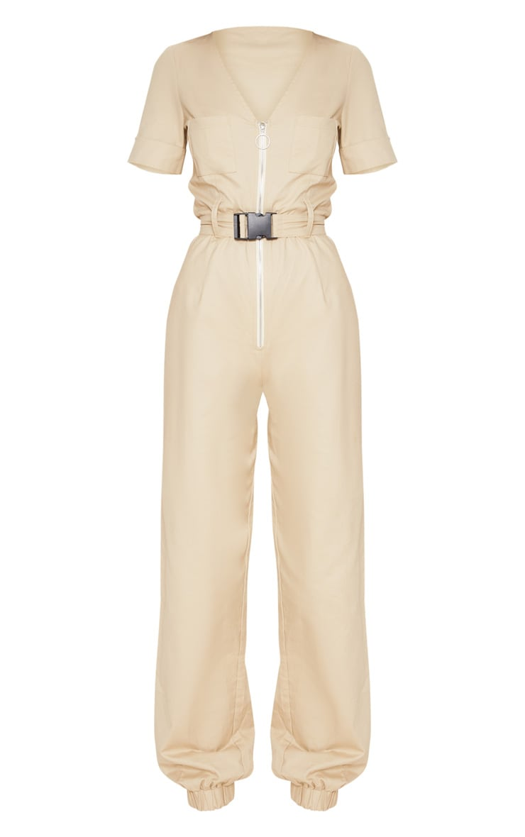 Stone Cargo Zip Up Jumpsuit 4