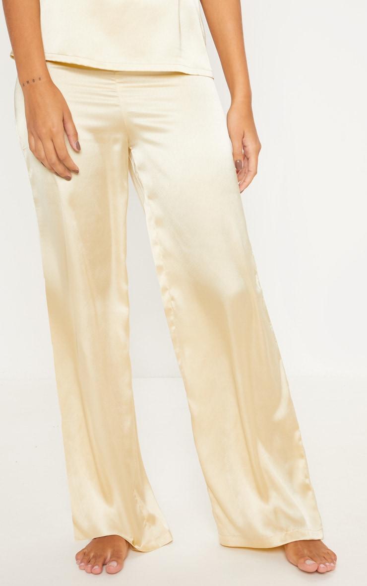 Champagne Basic Satin Long Pyjama Bottom 2