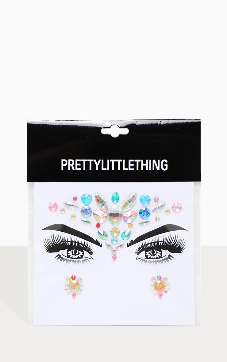 PRETTYLITTLETHING Mermaid Tears Festival Face Jewels 3
