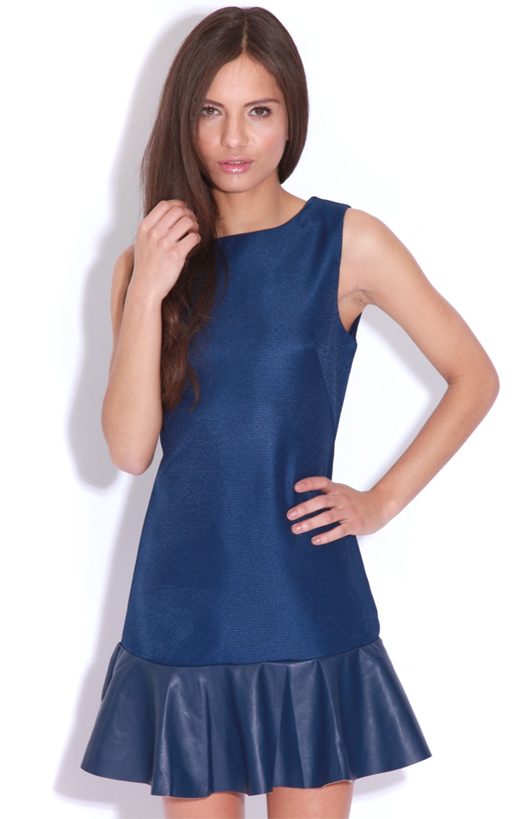 Ana Navy Peplum Mini Dress 1