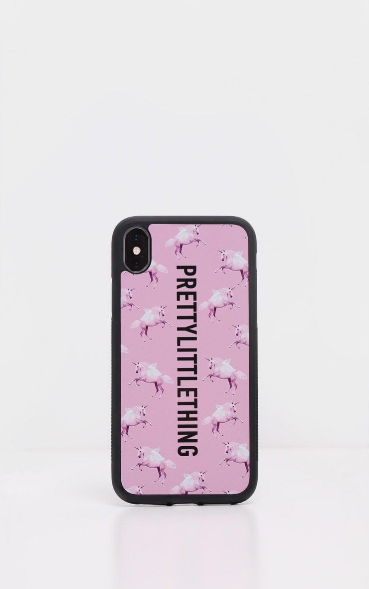 PRETTYLITTLETHING Unicorn Pink  10/X/XS iPhone Case  2