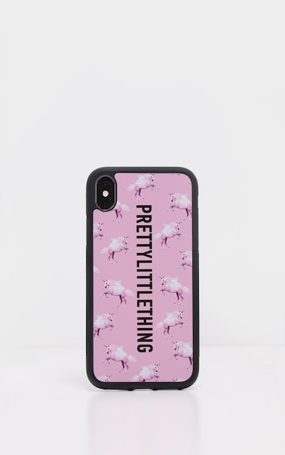 PRETTYLITTLETHING Unicorn Pink 10/X/XS iPhone Case