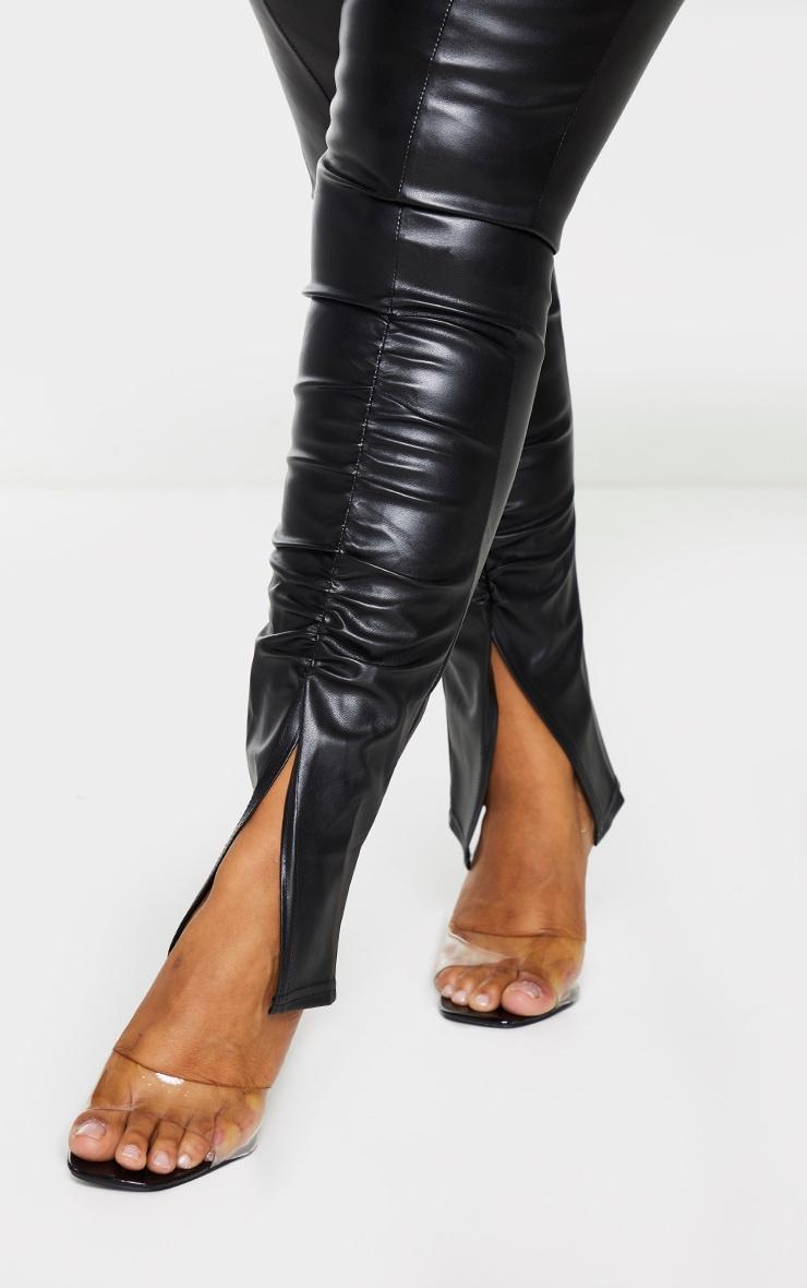 Plus Black PU Ruched Pants 4