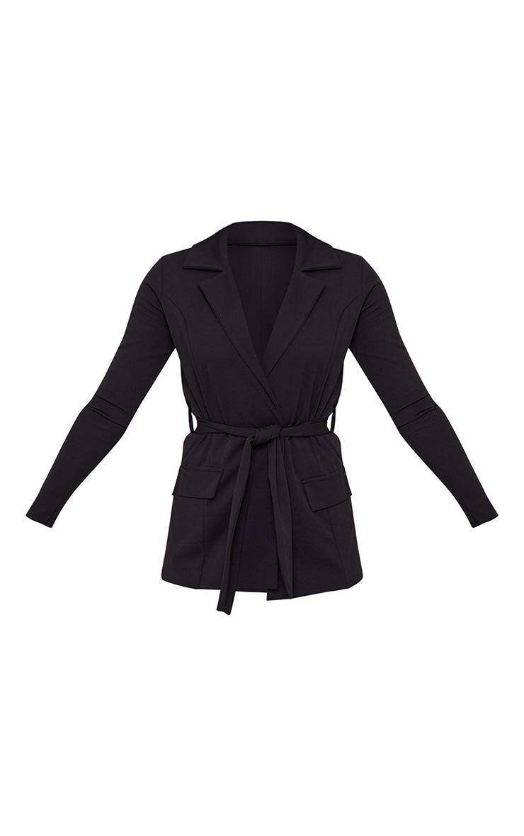 Tall Black LongLine Suit Blazer 5