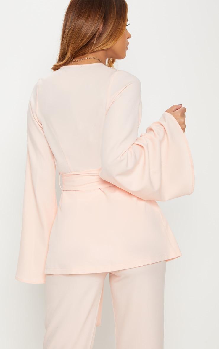 Petite Nude Woven Belt Detail Blazer 2
