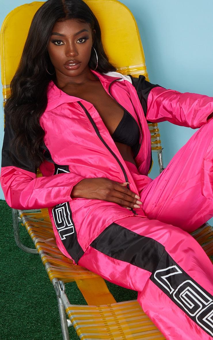 Pink Nylon 1997 Oversized Sports Jacket