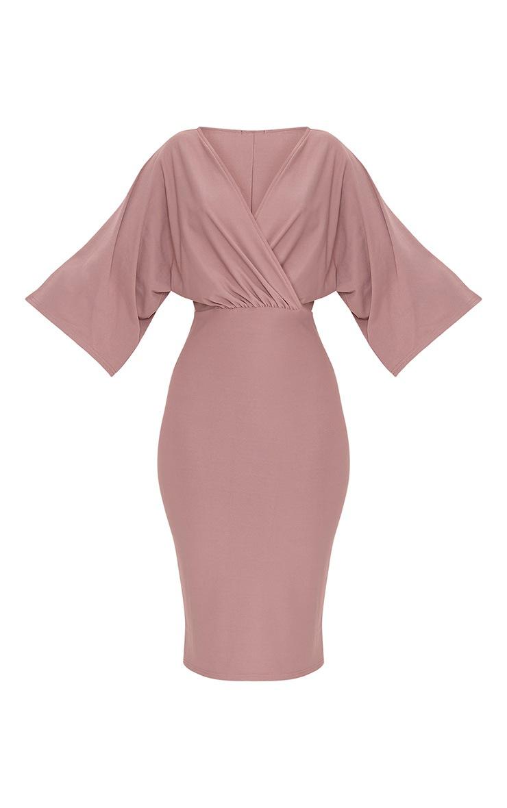 Renee Truffle Cape Midi Dress 3