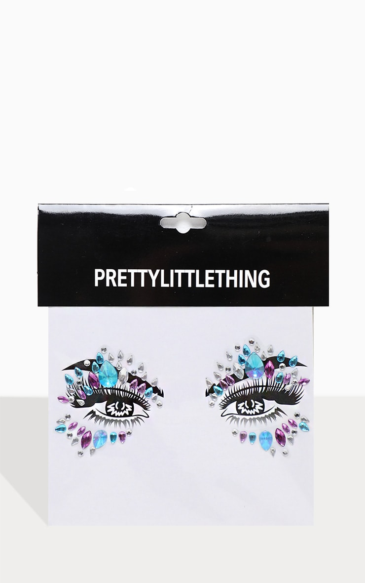 PRETTYLITTLETHING Purple Rain Face Jewel 2