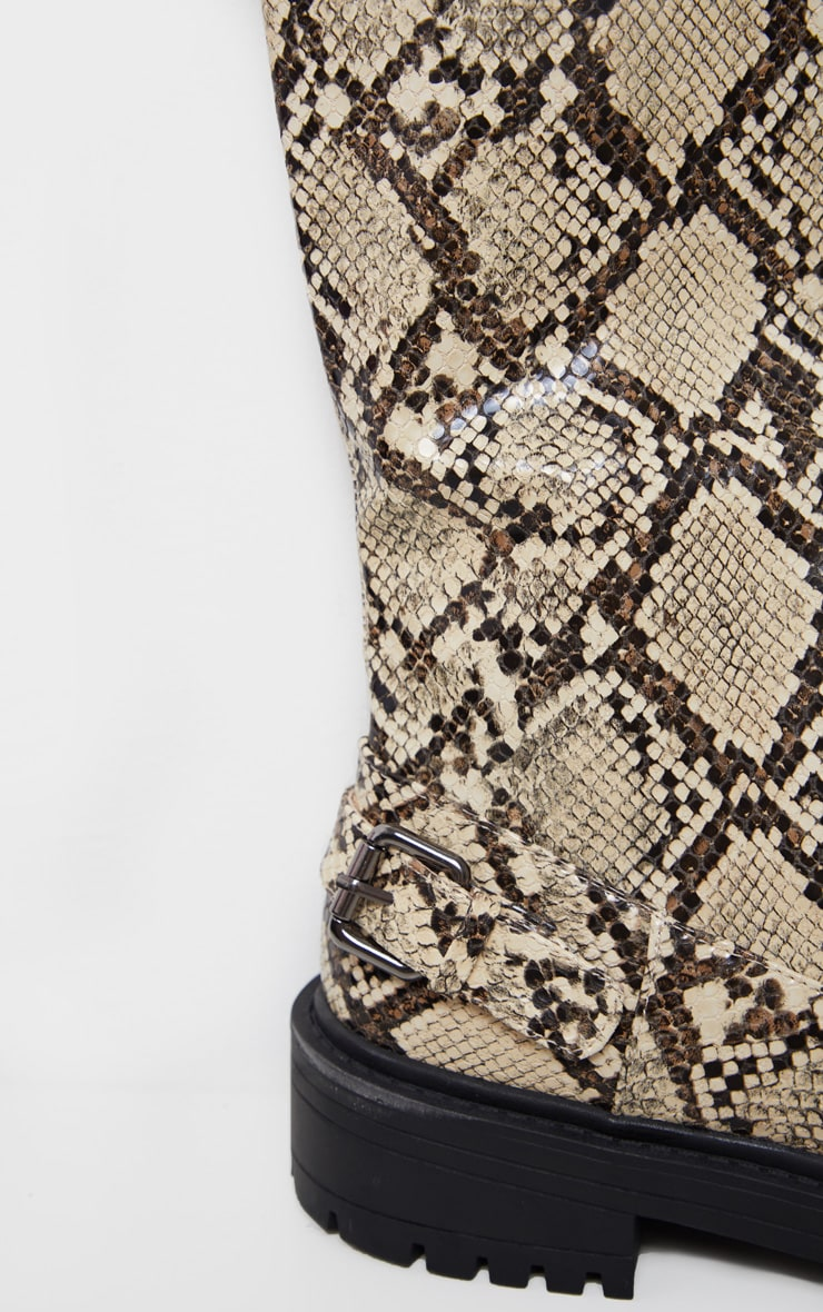 Snake Cleated Flat Over The Knee Boot 4