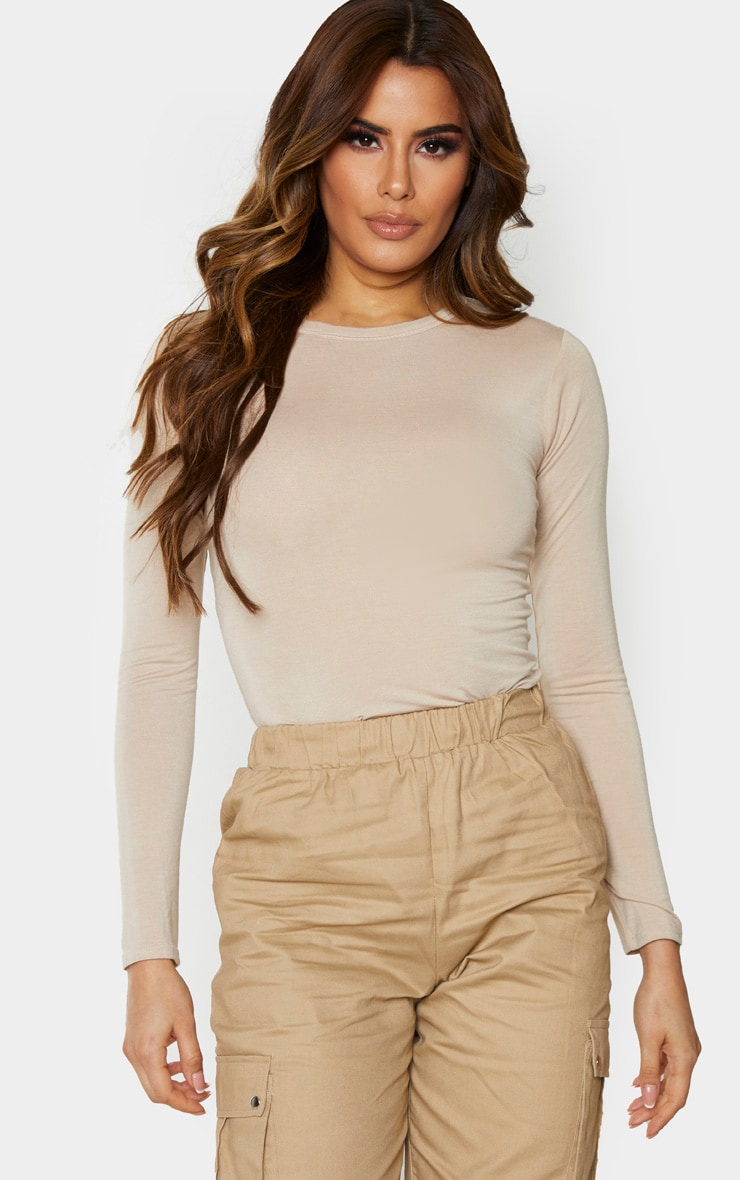 Tall Stone Basic Long Sleeve Top 1
