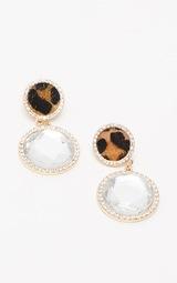 Leopard Diamante Statement Earrings 2